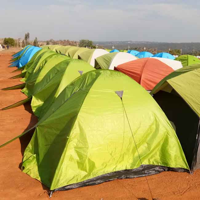 Camping event rental